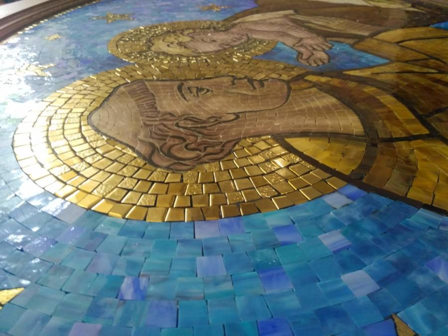Mozaika Św. Antoni - drzwi wejściowe w kościele - Ukraina Gródek Podolski